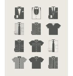 Menswear icon set vector