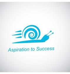 Speedy snail - concept of achieving success vector