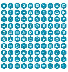 100 student icons sapphirine violet vector