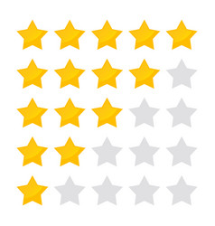 5 star rating icon isolated badge collection vector image