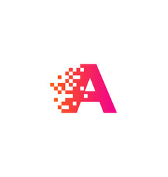 A letter pixel logo icon design vector