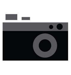 a vintage style still camera in black and white vector image