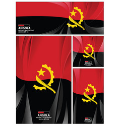 abstract angola flag background vector image