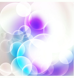 abstract white and cyan bubbles background vector image