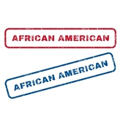 African American Rubber Stamps vector image