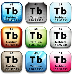 An icon with the chemical element terbium vector