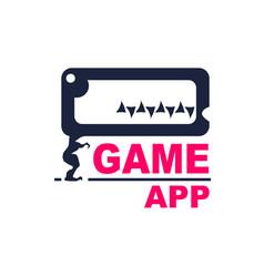 application development emblem vector image