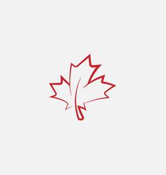 Autumn leaf canadian linear icon maple vector