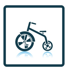 Baby trike icon vector image
