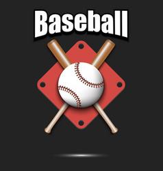 baseball logo design template vector image