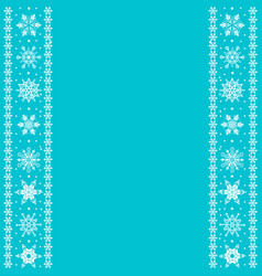 borders with snowflakes vector image