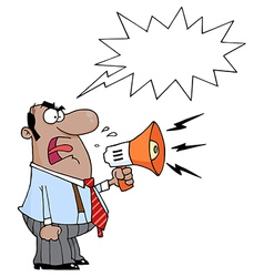 Boss yelling cartoon vector