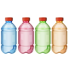 Bottles of safe drinking water vector