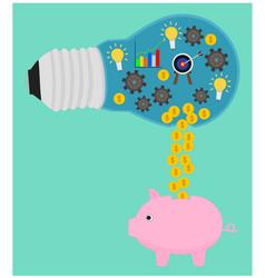 business process benefit money vector image