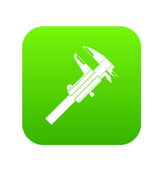 calipers icon digital green vector image