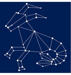 Capricorn zodiac sign vector