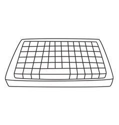 Cartoon image of keyboard icon vector