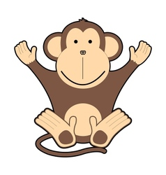 Childrens of cheerful monkeys vector image