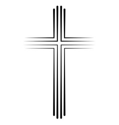 Christian catholic cross icon flat design vector