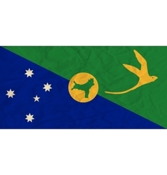 Christmas Island paper flag vector