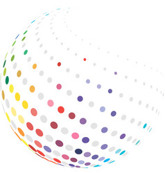 colorful globe with halftone vector image