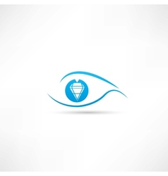 diamond eyes icon vector image