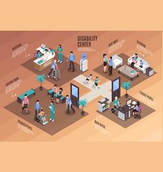 Disability centre conceptual background vector