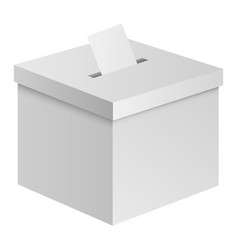 election box mockup realistic style vector image
