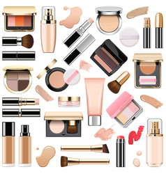 face makeup cosmetics vector image