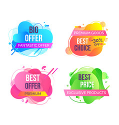 Fantastic best offer abstract tags set vector