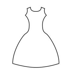 femenine dress elegant icon vector image