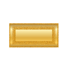 gold frame isolated white background golden vector image