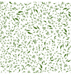green leaves on a branch seamless pattern vector image