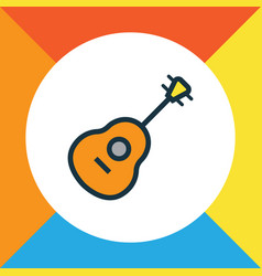 guitar colorful outline symbol premium quality vector image