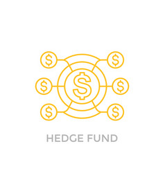 Hedge fund icon on white vector