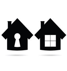House icon in black vector