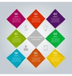 Infographic digital diamond concept vector