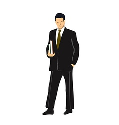Isolated businessman vector image