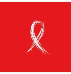Isolated white ribbon sketch disease awareness vector