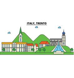 italy trento city skyline architecture vector image