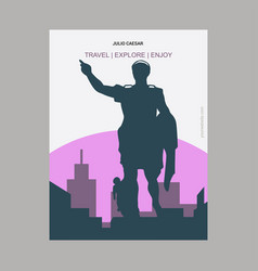Julio caesar vintage style landmark poster vector