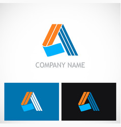 letter a shape abstract colored company logo vector image