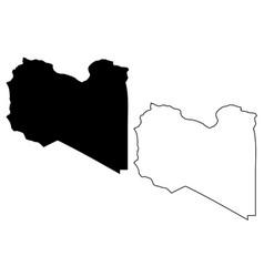 libya map vector image
