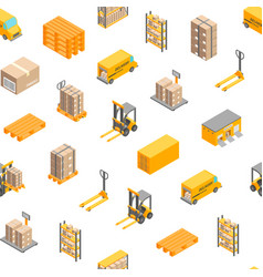 logistic delivery service seamless pattern vector image