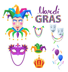 magri gras carnival concept with masks vector image