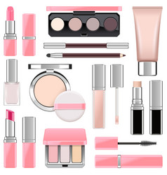 Makeup icons set 4 vector