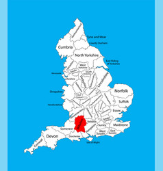 Map wiltshire south west england united kingdom vector