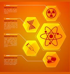 medicine orange poster vector image