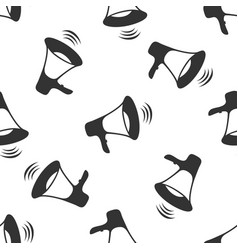 megaphone icon seamless pattern vector image