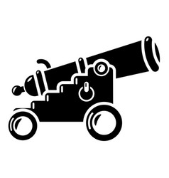 Menacing cannon icon simple style vector